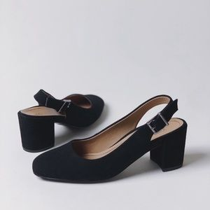 NWOB Vionic Nareen Slingback Suede Black Shoes 6